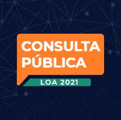 Menu para acesso à consulta pública da LOA