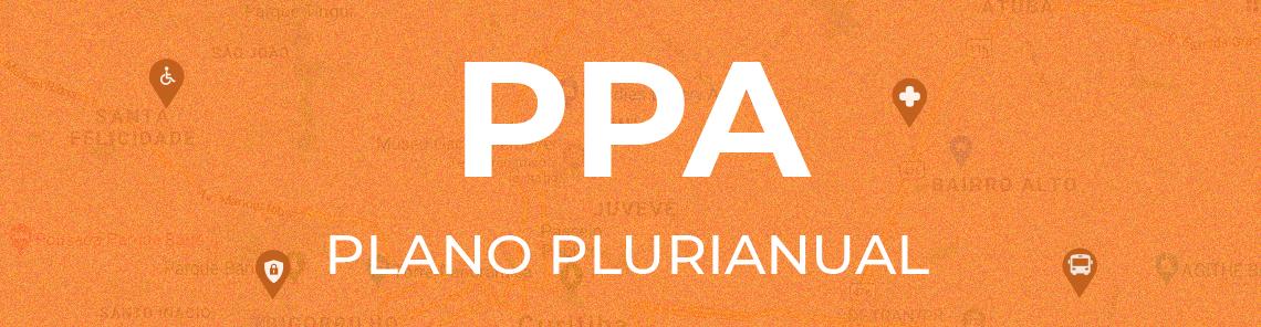 Banner da página que fala sobre o Plano Plurianual.