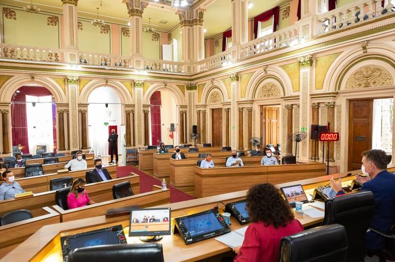 Colégio de Líderes define regras para sessões híbridas na Câmara de Curitiba