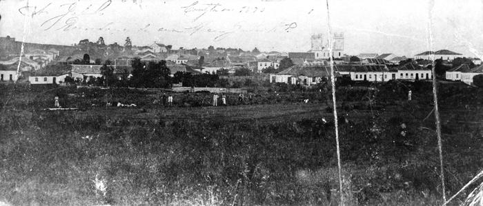 Panorâmica de Curitiba em 1870