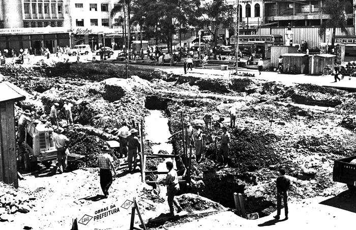 Praça Zacarias em 1960