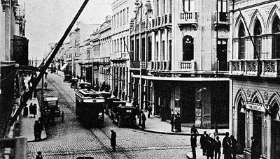 Rua XV de Novembro na década de 1920.