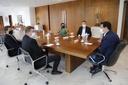 Mesa Diretora da Câmara de Curitiba visita governador Ratinho Junior