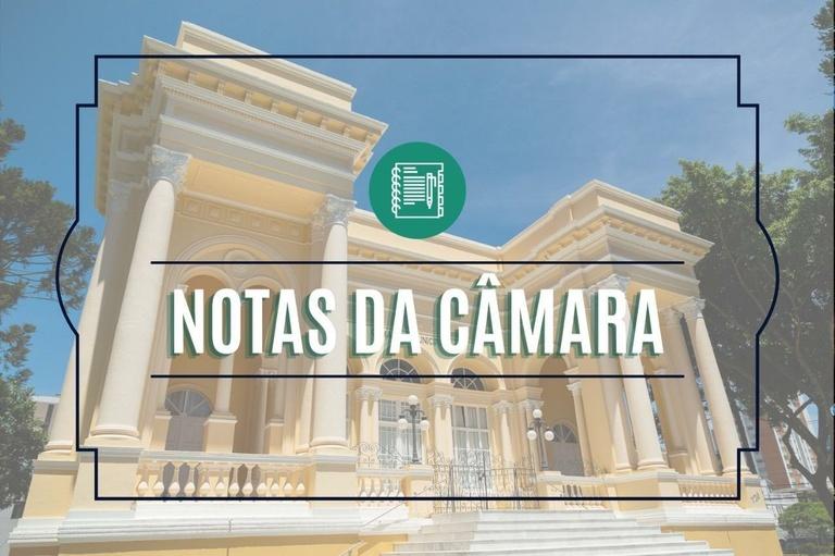 Notas da Câmara Municipal de Curitiba