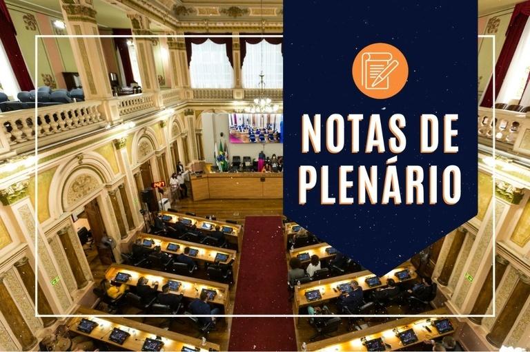 Notas da sessão plenária de 18 de maio