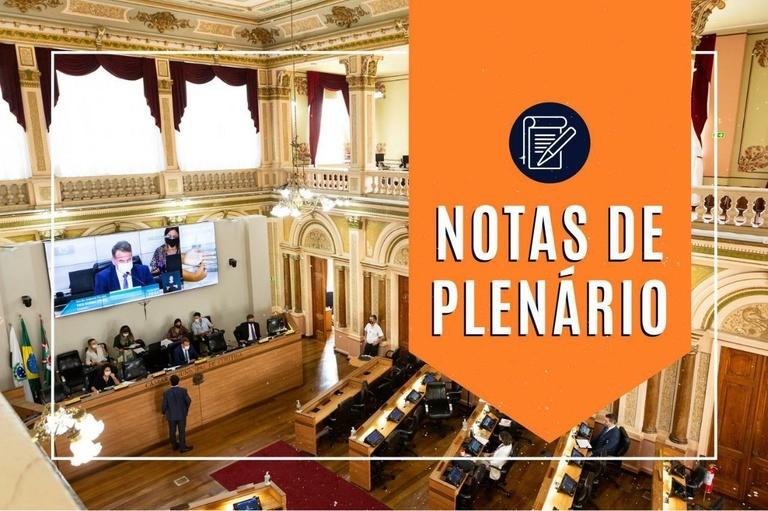 Notas da sessão plenária de 24 de fevereiro