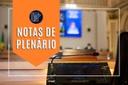 Notas da sessão plenária de 27 de setembro – 1ª edição