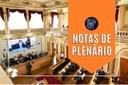 Notas da sessão plenária de 31 de maio
