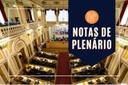 Notas da sessão plenária de 31 de março