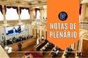 Notas da sessão plenária de 13 de setembro