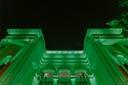 Palácio Rio Branco se ilumina de verde em comemoração ao Dia do Nutricionista