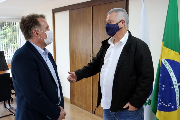 Visita à presidência: jornalista Esmael Morais